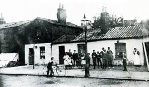 Old cottages in Wood Lane, Shepherd's Bush, c. 1890.